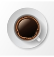 Coffee Cup Mug with Crema Foam Bubbles vector image vector image