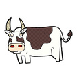 comic cartoon bull vector image vector image