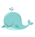 cute amusing whale prints image vector image vector image