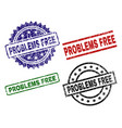 damaged textured problems free stamp seals vector image vector image