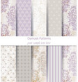 damask patterns set collection classic vector image