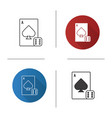 dice and playing card icon vector image