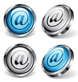 e-mail web buttons vector image vector image
