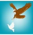 eagle and dove vector image