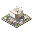 Factory Territory Isometric vector image