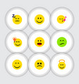 flat icon face set of smile have an good opinion vector image vector image
