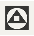 Flat in black and white mobile application alchemy vector image vector image