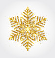 glitter gold snowflake on white background vector image vector image