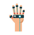 glove video game control vector image