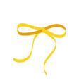 gold bow cartoon yellow ribbon satin bow for xmas vector image vector image
