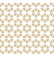 golden floral seamless luxury geometric pattern vector image