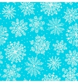 Hand drawn snowflakes Seamless pattern vector image vector image