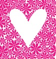 Heart with flowers background vector image vector image