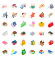 home icons set isometric style vector image