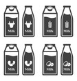 icon set of cardboard packaging and plastic vector image vector image