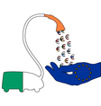 Irish Euro vacuum cleaner vector image vector image