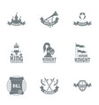king logo set simple style vector image vector image