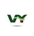 Letter V and Y monogram logo vector image vector image