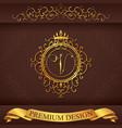 Letter V Luxury Logo template flourishes vector image