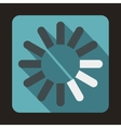 Loading circle icon flat style vector image vector image