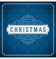 Merry Christmas typography decoration greeting vector image