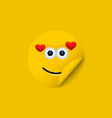 modern yellow face sticker creative vector image vector image