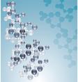 molecule vector image vector image