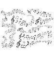musical notes music note swirl melody pattern vector image vector image