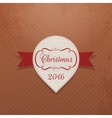 New Year or Christmas realistic white Sticker vector image vector image