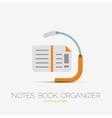 Note book page company logo minimal design vector image