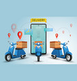 online delivery service scooter vector image
