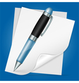 Pen with Sheet Paper vector image