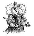 queen of hearts vintage vector image vector image