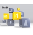 realistic cubes background concept vector image vector image
