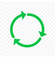 recycle icon arrow symbol eco waste reuse cycle vector image