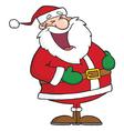 Santa Laughing vector image vector image