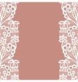 Seamless lace border Invitation card vector image vector image