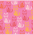 seamless pattern with cute colorful kittens vector image