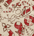 seamless pattern with symbols christmas vector image
