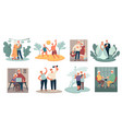 senior characters elderly grandparents couple vector image