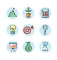 set analytics finance to business corporation vector image