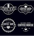 set coffee shop logotype templates coffee vector image vector image