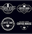 set of coffee shop logotype templates coffee vector image