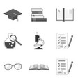set of education icons and symbols in trendy flat vector image vector image