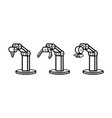 set of robotic arms vector image vector image