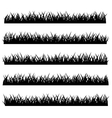 silhouette grass set isolated on white vector image vector image