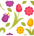 spring flowers tulips seamless pattern easter vector image vector image