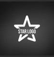 star logo template isolated on black background vector image vector image