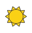 sunny sun abstract sunshine icon graphic vector image vector image