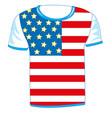 t-shirt flag usa vector image